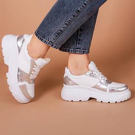 Модные женские кроссовки на платформе натуральная кожа Размерный ряд 36-40