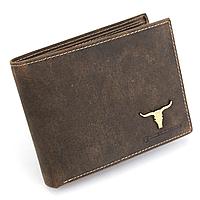 Чоловіче шкіряне портмоне без застібки Buffalo Wild DNK-02 BAW TAN коричневе, фото 1
