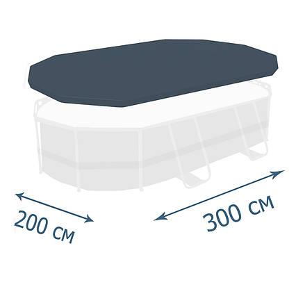 Тент - чохол для каркасного басейну Bestway 58424, 300 х 200 x 84 см