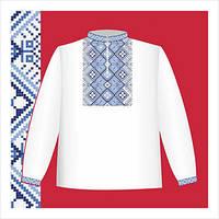Схема вышивания на бумаге рубашки для мальчика СХ1-032