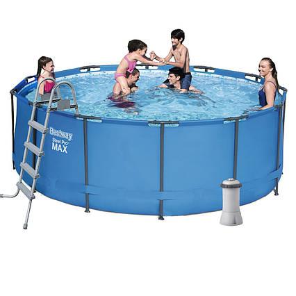Каркасний басейн 5614S - 5, 366 х 122 см (3 785 л/год, сходи, тент, підстилка)