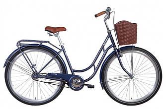 """Велосипед 28"""" Dorozhnik RETRO 2021 (синий19"""")"""