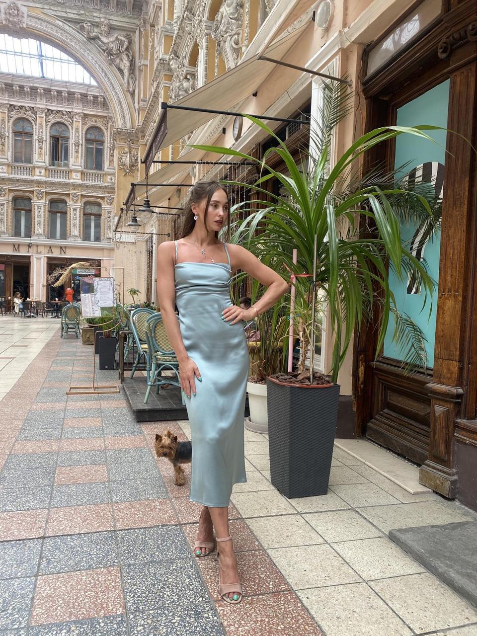 Сукня жіноча оливкова SVON P3045