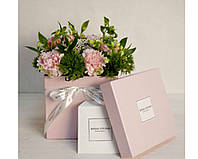 Коробка для цветов с логотипом