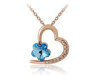 Колье «Цветущее сердце» с кристаллом Сваровски, купить