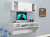 Навесной компьютерный стол ZEUS AirTable-II Kit WT (белый), фото 1