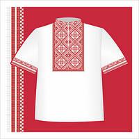 Схема вышивания на бумаге рубашки для мальчика СХ2-008