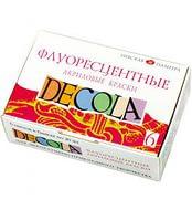 """Краски акриловые, """"DECOLA"""" флуорисц 6х20 мл."""