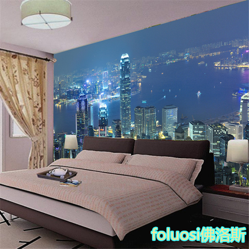 3d city lights for 3d wallpaper for bedroom indian