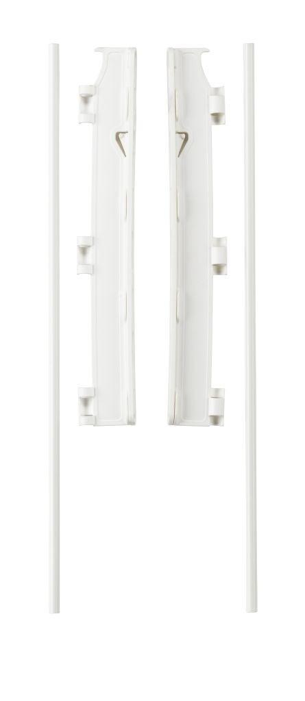 Кронштейн к стене для ограждений FLEX M, L, XL и ручка Park-a-Kid - цвет белый