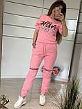 Женский трикотажный спортивный костюм (Турция); Размеры:С,М,Л,ХЛ (полномерные), фото 2