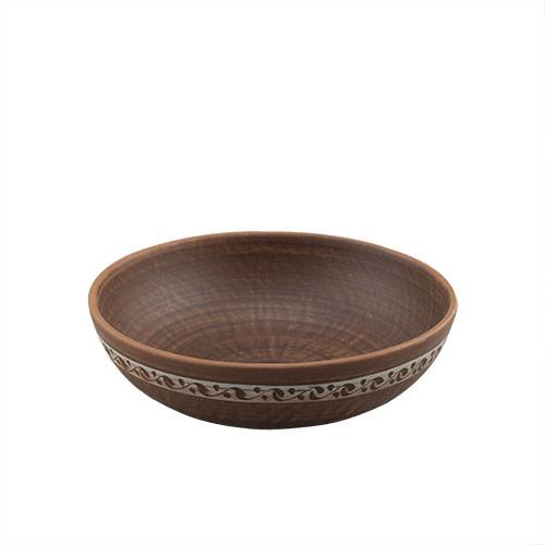 Миска глиняна Артель Кераміст для вареників 0,9л 200мм KR1020
