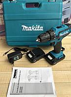 Япония! Аккумуляторная дрель-шуруповерт Makita 550 DWE 24V, Макита с набором инструментов в фирменном кейсе