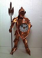 Статуя (фигурка) Рыцаря с часами из меди 44см, подарок мужчине