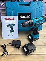 Япония! Аккумуляторная дрель-шуруповерт Makita DF331D 24V, Макита с набором инструментов в фирменном кейсе