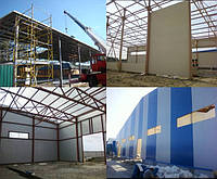 Промышленное строительство, строительство складов, цехов, АЗС и СТО из сэнвдич панелей