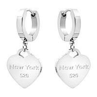Серьги родий, английская застежка «520 New York» в стиле Tiffany