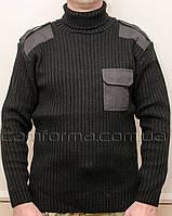 Форменный вязанный свитер ЧЕРНЫЙ (5 класс вязки)