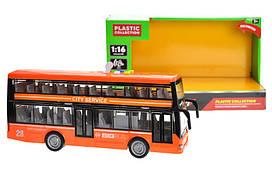 Автобус двоповерховий 7953AB АВТОПРОМ світло звук