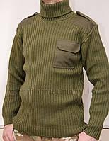 Форменный вязанный свитер ОЛИВА (5 класс вязки)