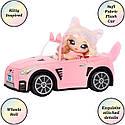 Машина для куклы На На На Кэтмобиль Na Na Na Surprise Soft Plush Convertible , Kitty Car 572411, фото 3