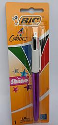 Шариковая ручка BIC 4 Colours Shine Purple
