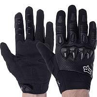 Мотоперчатки чоловічі з закритими пальцями FOX F-02 розмір XL чорні, фото 1