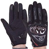 Мотоперчатки чоловічі з закритими пальцями SCOYCO MC44-BK розмір L чорні, фото 1