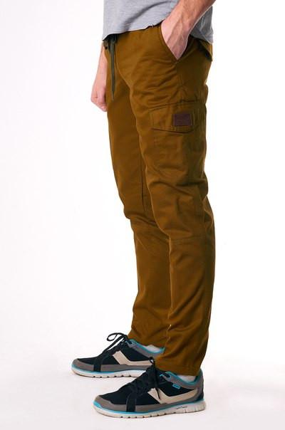 брюки карго с накладными карманами мужские