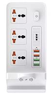 Сетевой фильтр удлинитель с USB DT BKL-20 3x220V+4xUSB WIREESS POWER 10W Белый