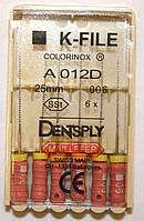 K-File 25мм, уп.6шт, №006, Dentsply Maillefer