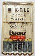 K-File 25мм, уп.6шт, №008, Dentsply Maillefer