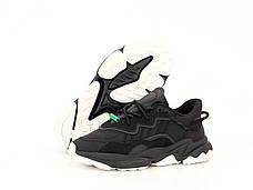 Рефлектив   Мужские кроссовки в стиле Adidas Ozweego Black Green Reflective, фото 3