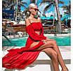 Трендовые летние костюмы из шифона, цвета красное, фиолет, розовое,  голубой , оранжевый, фото 5