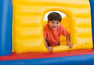 Надувной игровой центр Замок для детей Intex 48259 200x170x152 см Jump-O-Lene Детский надувной батут интекс, фото 3