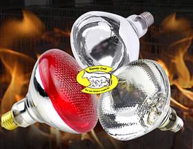 Лампа инфракрасная зеркальная (пресованоое стекло) 250Вт красная