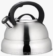 Чайник зі свистком Petergoff 4,5 л нержавійка (15549 PH)