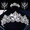 Диадема и серьги, ДАНИЭЛЬ набор, свадебная бижутерия, корона и серьги, фото 2