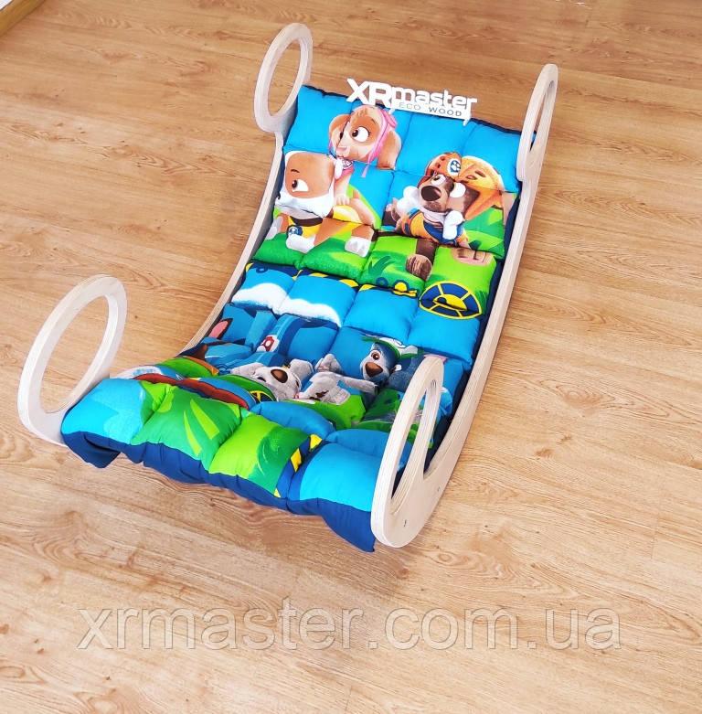 Дитяче ліжечко гойдалка балансир з матрасиком  Щенячий патруль