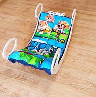 Дитяче ліжечко гойдалка балансир з матрасиком  Щенячий патруль, фото 1