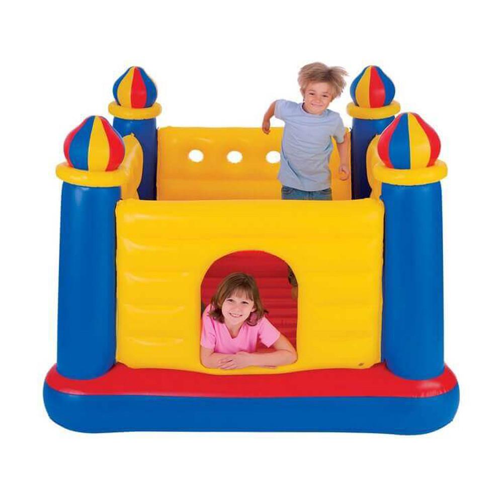Надувной игровой центр Замок для детей Intex 48259 200x170x152 см Jump-O-Lene Детский надувной батут интекс