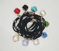 Резинка с цветными кристаллами