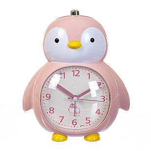 """Будильник """"Пингвин"""" нежно-розовый"""
