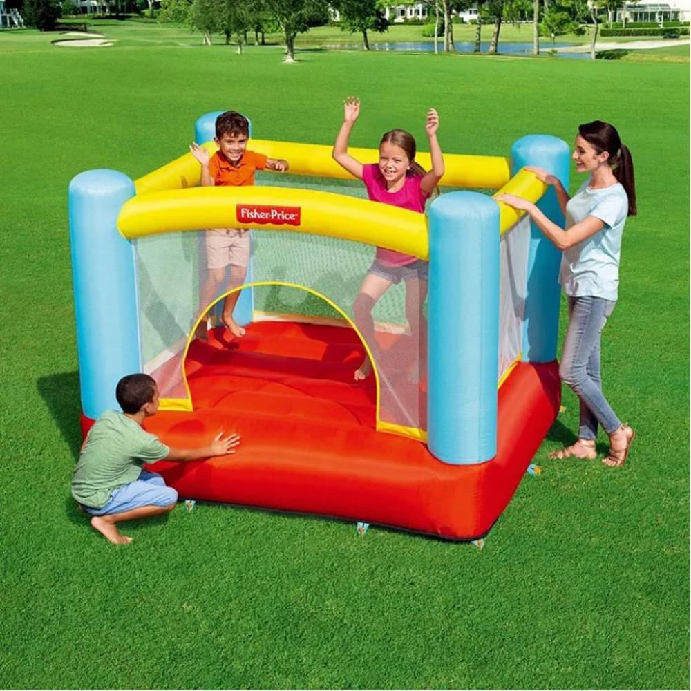 Надувний ігровий центр для дітей Bestway 93549 200x170x152 см Fisher-Price Дитячий надувний батут бествэй