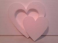 """Заготовка из пенопласта """"Сердце в сердце"""""""