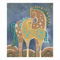 """Схема для вышивки бисером """"Сказочные лошади"""""""