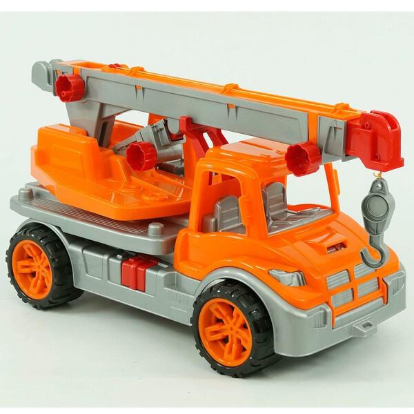 Игрушечная детская машинка Технок No695 Автокран Оранжевый