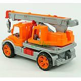 Игрушечная детская машинка Технок No695 Автокран Оранжевый, фото 2