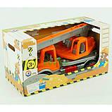 Игрушечная детская машинка Технок No695 Автокран Оранжевый, фото 3