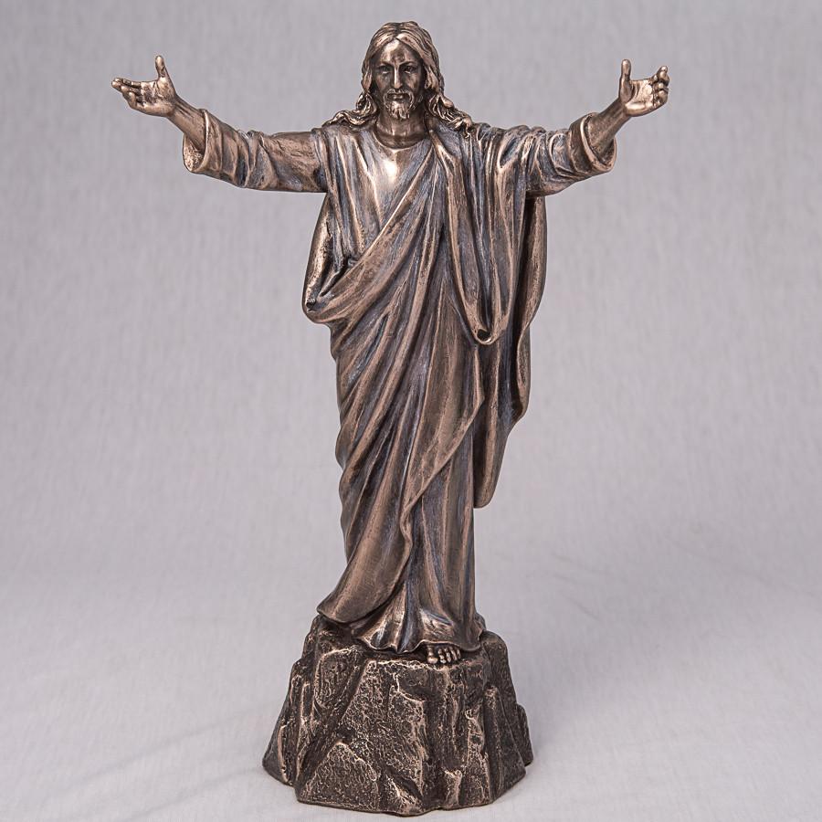 """Статуэтка из полистоуна под бронзу  """"Иисус"""" (26 см)"""